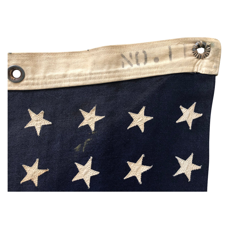Vintage 48 Star Flag - Naval Flag No. 11 made of Wool