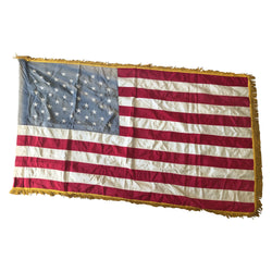 Vintage Glory Gloss Dettra 50 Star American Flag With Gold Fringe