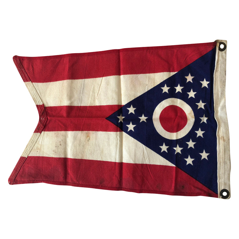 Vintage Ohio State Flag - Colonial Flag Co - Cotton