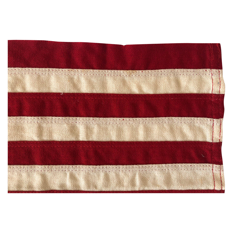 Vintage Yacht Ensign US Flag - 13 Sewn Star Anchor & Stripes - Storm King