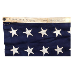 WWII 48 Star Flag - Mare Island Ensign No 7 OCT 1942 Funeral Flag