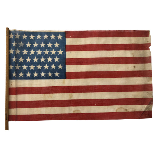 Vintage Antique 45 Star Parade Flag, 8-7-8-7-8-7 Star Formation
