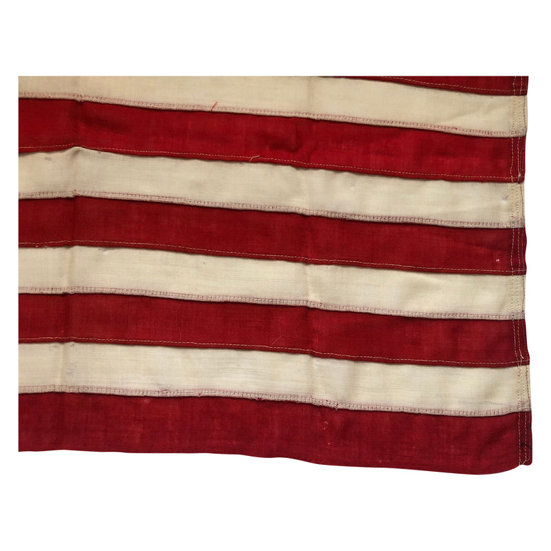 13 Star Flag in 3-2-3-2-3 Formation, Small Size Antique Flag 1895-1920