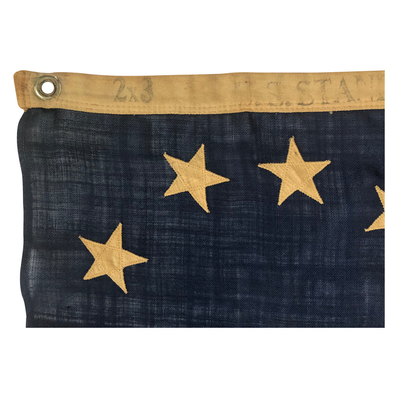 Antique Vintage 13 Star Flag in Cowpens or 3rd Maryland Pattern - Small Size 1890s-1910