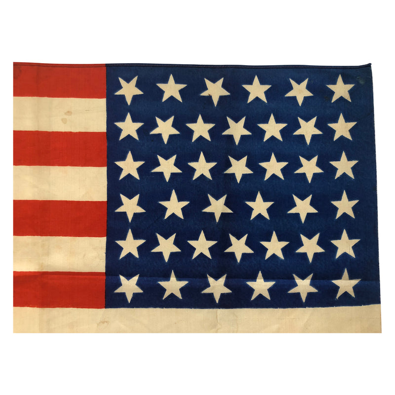 Vintage Antique Silk 39 Star Flag