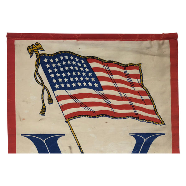 1942 Victory Banner with 48 Star Flag and 2 Stars