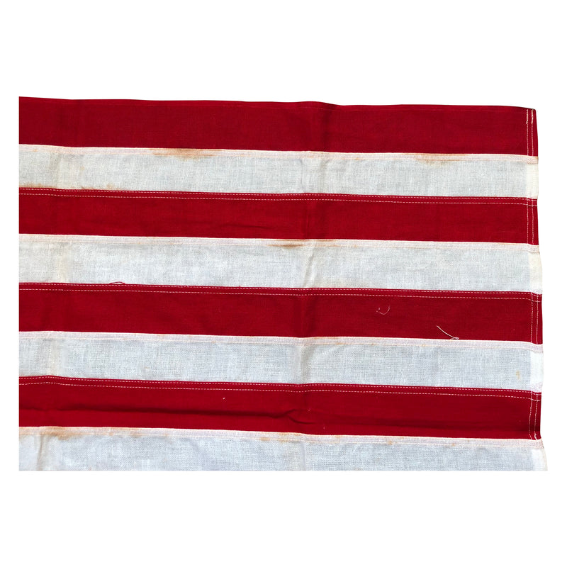 Vintage Yacht Ensign US Flag - 13 Sewn Star Star Anchor & Stripes