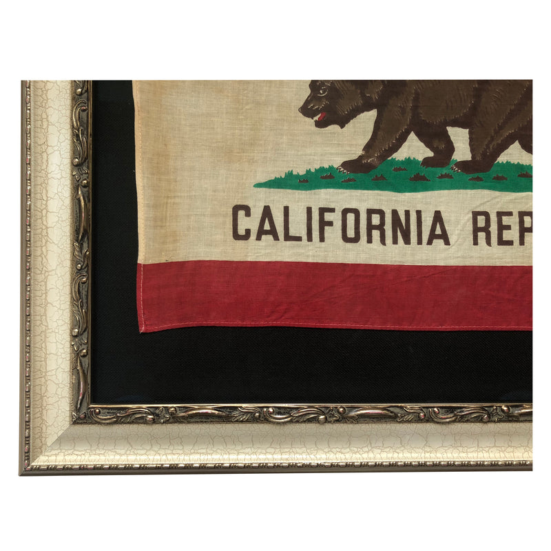 Vintage California Republic Bear Flag Framed - Small Flag