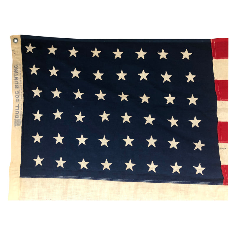 Vintage 48 Star Flag - Bull Dog Bunting Double Warp