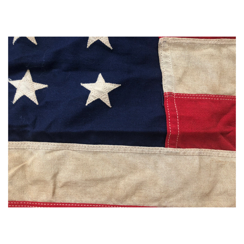 Vintage 48 Star Flag - Bulldog Bunting - Sewn Stars and Stripes