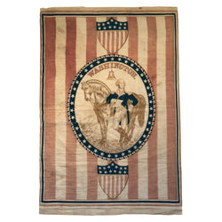 1876 WASHINGTON PATRIOTIC 39 STAR FLAG BANNER THREADS OF HISTORY #376