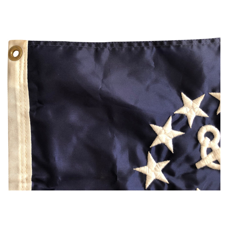 Vintage Yacht Ensign US Flag - Nautical 13 Star Anchor & Stripes