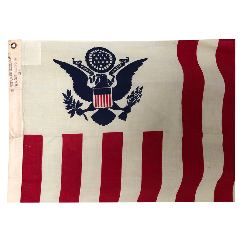 Vintage US Coast Guard Ensign Flag - Size 4