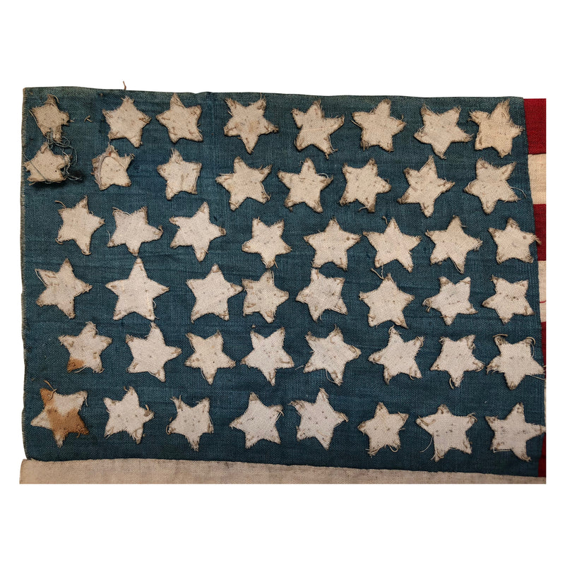 48 Star Flag- Hand Sewed Rare WWI Era Antique American Flag