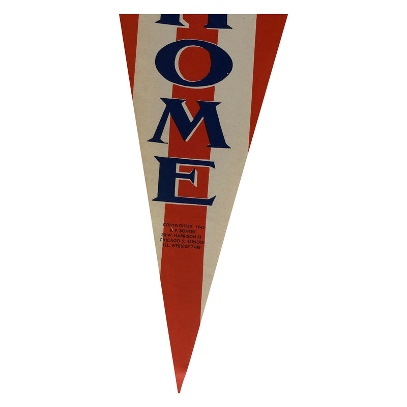 Original 1945 Uncle Sam WW2 Paper Pennant - Welcome Home