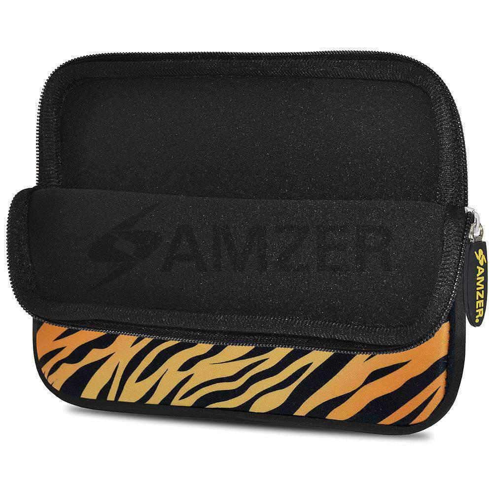 AMZER 7.75 Inch Neoprene Zipper Sleeve Pouch Tablet Bag - Zebra Sands