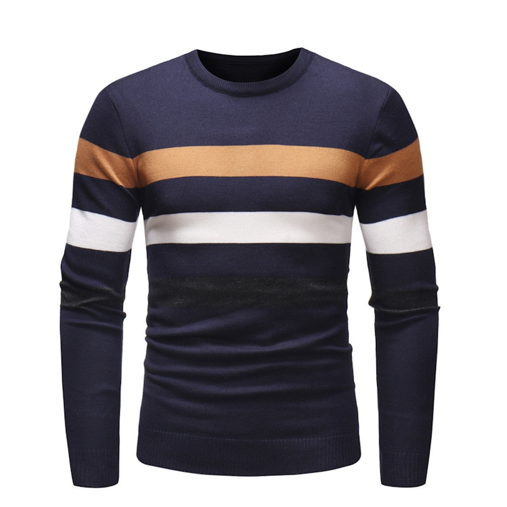 Men Standard Patchwork Full Sleeve Regular Sweater