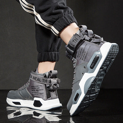 New Fashion Men Sneakers high top Running Shoes for Men Black/ white Outdoors Walking Sports Shoes Comfortable
