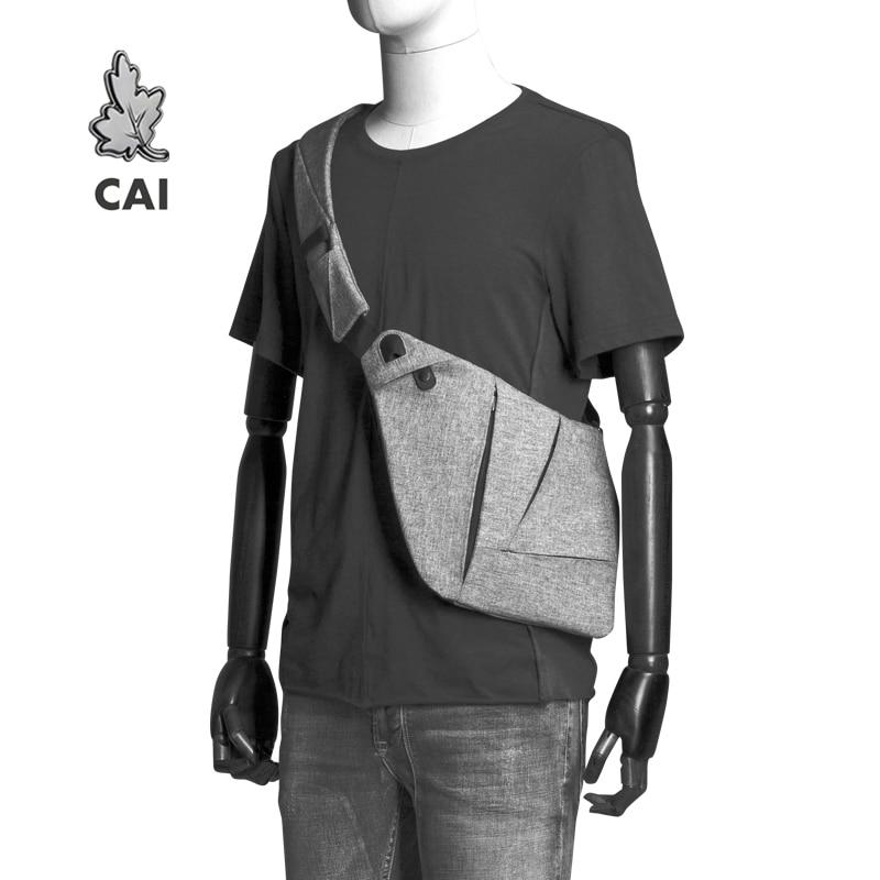 Fashion Cool Chest Bag Men Casual Messenger Anti-Theft Waistbag Fanny