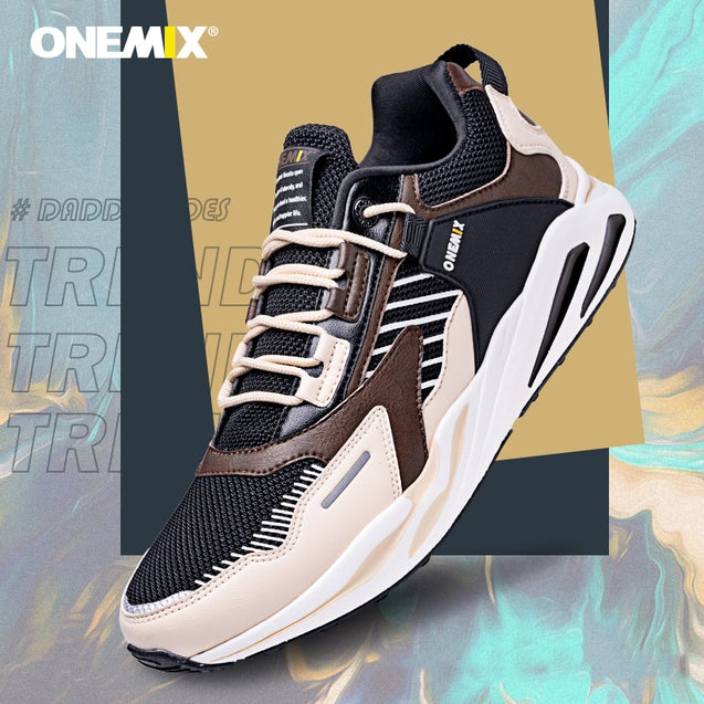 ONEMIX Retro Running Shoes for Men's Sneakers Winter Casual Athletic Sports Shoes Outdoor Travel Harajuk Walking Jogging Shoes