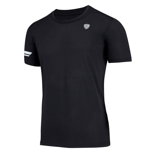 Men sports T-shirt  breathable Quick Dry anti-sweat comfortable Tee Tops Tights Apparel Outdoor Gym Running Sportswear