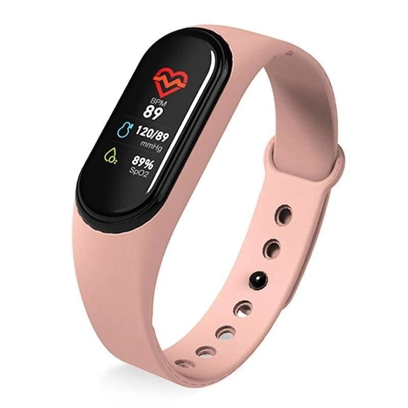 Women Sports Watch Fitness Tracker Waterproof Blood Pressure Smart Bracelet Bluetooth Call Reminder Wristband For iOS Android