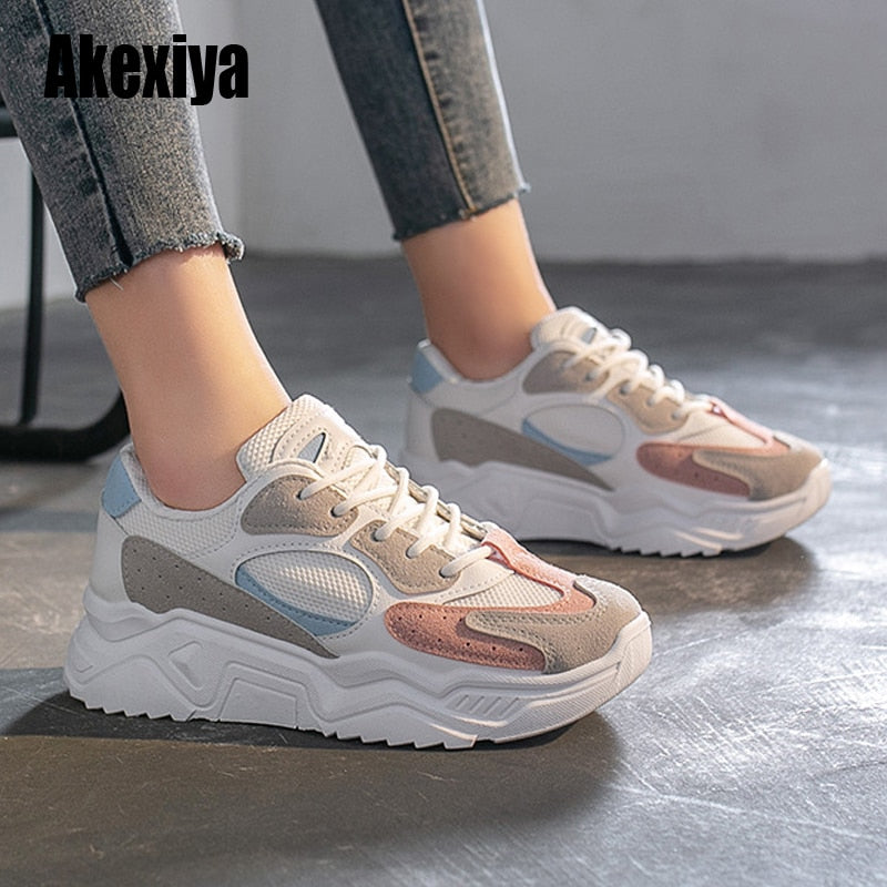 Women Sneakers Thick Bottom Daddy Shoe | Gym Shoes
