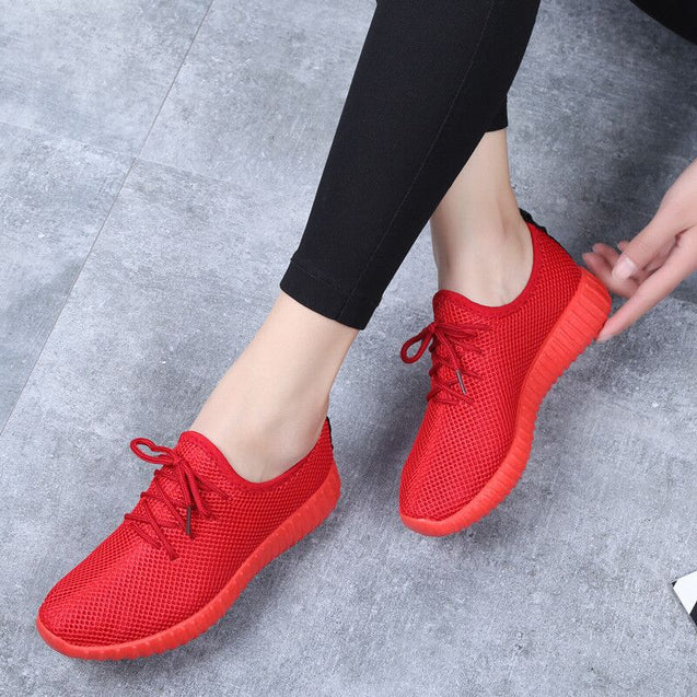 2020 Running Shoes Women Sports Outdoor Platform Sneakers Summer Female Low Top Breathable Fitness Walking Shoes Zapatos Mujer