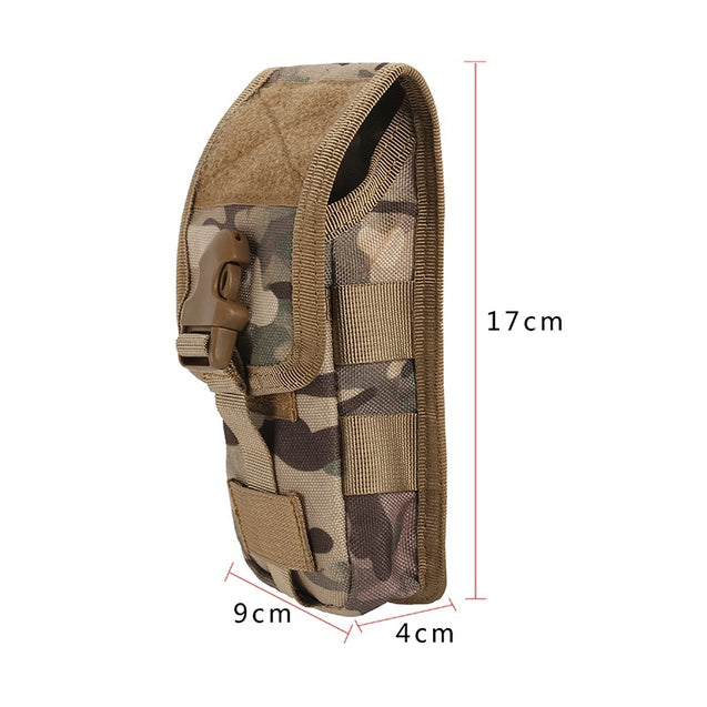 IKSNAIL New Hunting Camouflage Molle Bag Tactical Army Phone Holder Sport Waist Belt Case Waterproof EDC Sport Outdoor Camo Bags