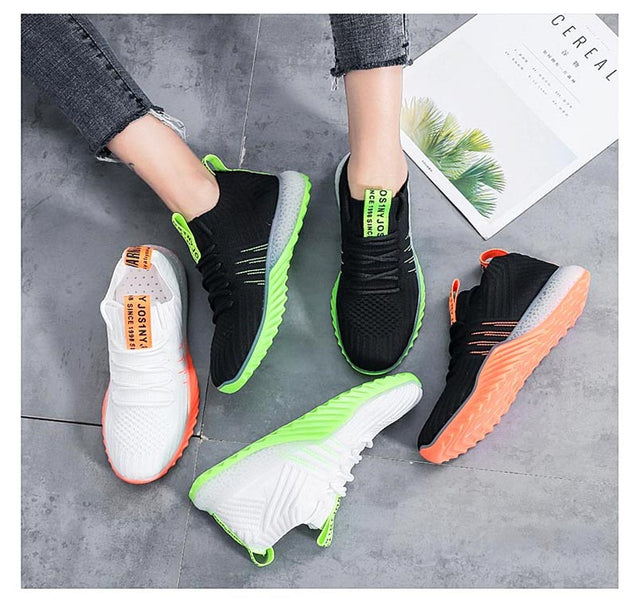Summer Breathable Sneakers Woman Sports Shoes Sport Women's Running Shoes 2019 White Zapatos Mujer Fitness Tennis Training B-261
