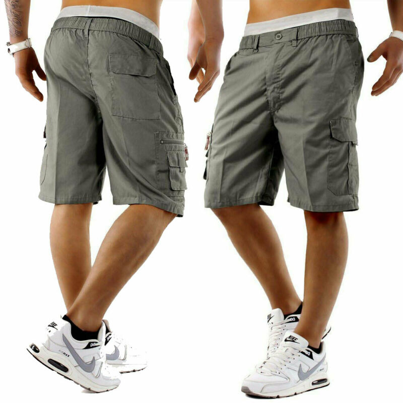 Summer New Men Shorts Cotton Casual Half Pant Stretch Slim Fit  Running Sport Workout Hip Hop Men's Quality Gym Short streetwear