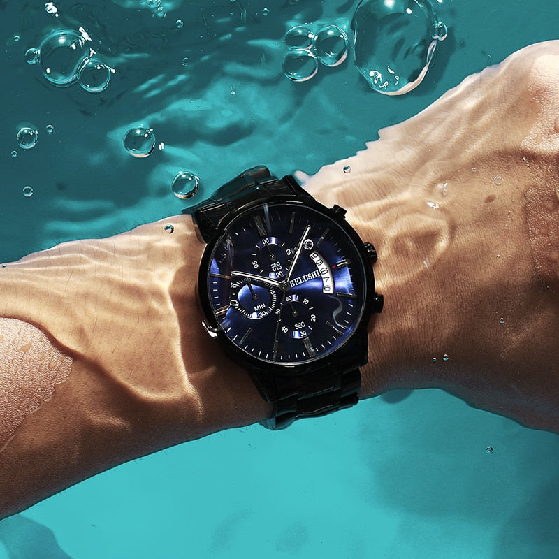Stylish Luxury Men's Business Casual Watch | Waterproof | Quartz Wristwatch