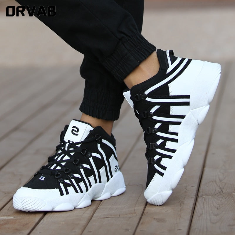 Men's Fashion Luxury Sneakers | Split Leather | Men's Casual Shoes | Breathable | Walking, Running & Training