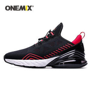 ONEMIX Sneakers 2019 Men Running Shoes Sports Cushioning Breathable Knitted Mesh Women Outdoor Athletic Shoes Original Authentic
