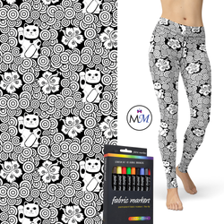 WS Coloring Book Leggings -with side Pockets