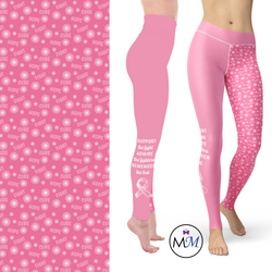 Pink Ribbon for Breast Cancer Awareness Leggings