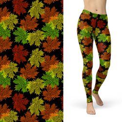 Leaf Fall Colors Leggings with Pockets