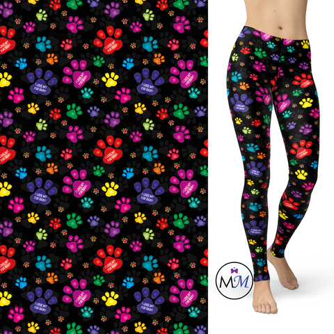 WS -Fur Baby Paw Print Leggings