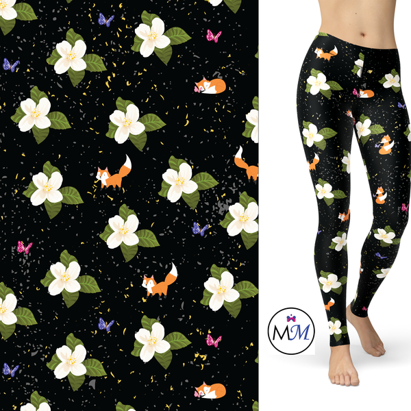 Jasmine Foxy Fox Leggings with Pockets