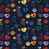 Dog Love Leggings with Hearts and Paw Prints Small Print- Fur Baby - Dog Rescue