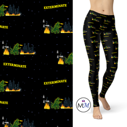 WS -  Whozilla Extermine Robots -  Full Length Leggings