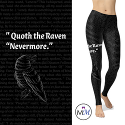 Raven Leggings Poe Leggings with Pockets Halloween Bird