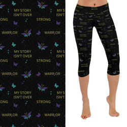 Just Pause -  Suicide Awareness Capri Leggings