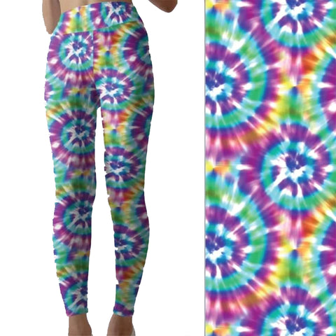 All Colors Tie Dye Capri Leggings