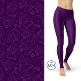 Purple Floral Sugar Leggings