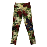 Red Roses and Butterfly Leggings