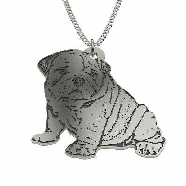 Personalized Pet Photo Necklace in Silver Plated and Sterling Silver