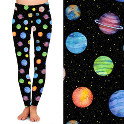 Colorful Planets Full Length Leggings