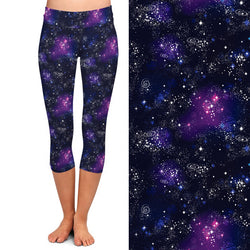 Purple and Blue Galaxy Leggings