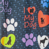 WS RTS - Dog Love Leggings with Hearts and Paw Prints